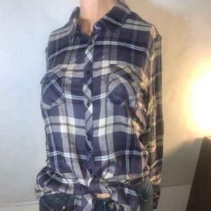 New Button Down Shirt Romeo & Juliet Couture Plaid